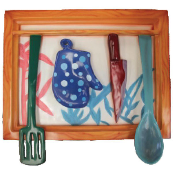 2D Wall Decor Painting - Utensils2