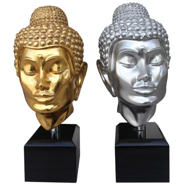 BUDDHA HEAD SMALL WITH BASE