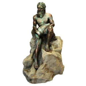 FST1010-AQUARIUS MAN STATUE-BRONZE PATINA
