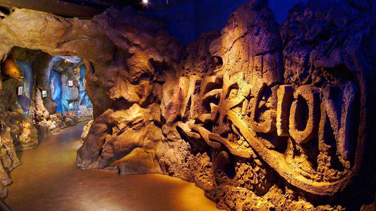 Visit a cave of wonders inside the Sentosa Merlion