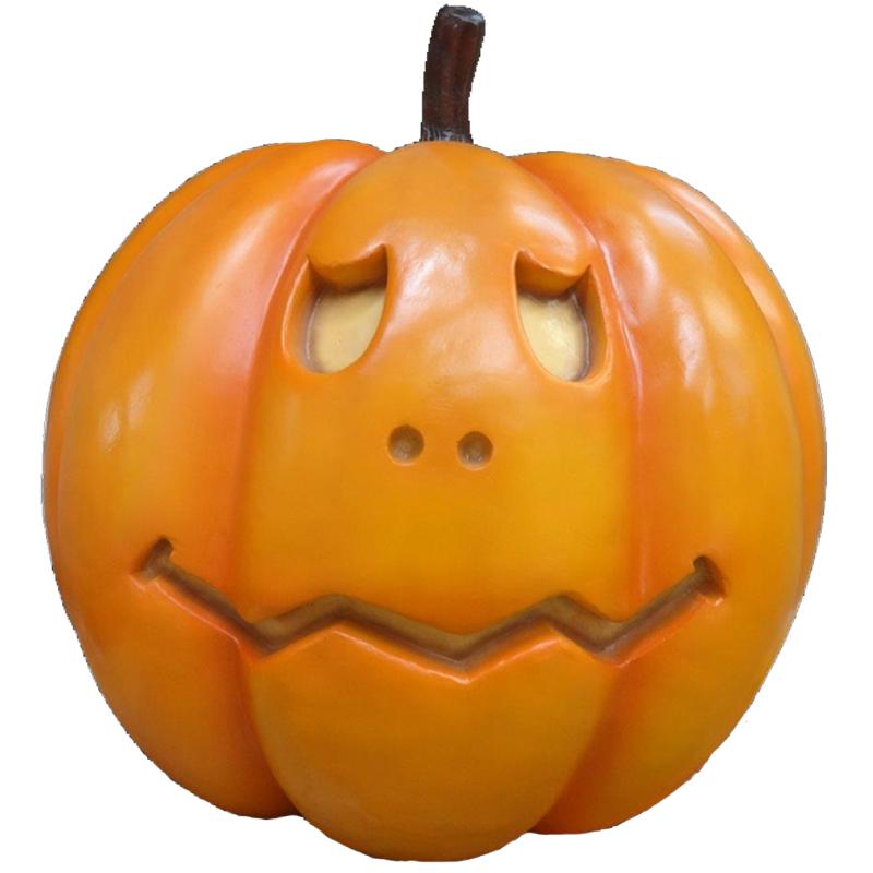 Pumpkin With Sad Face Theme Builders