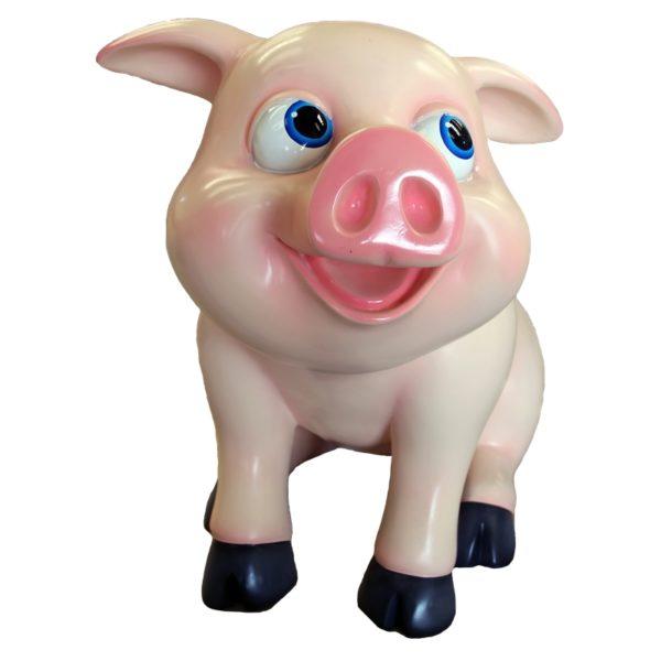 comic standing piglet