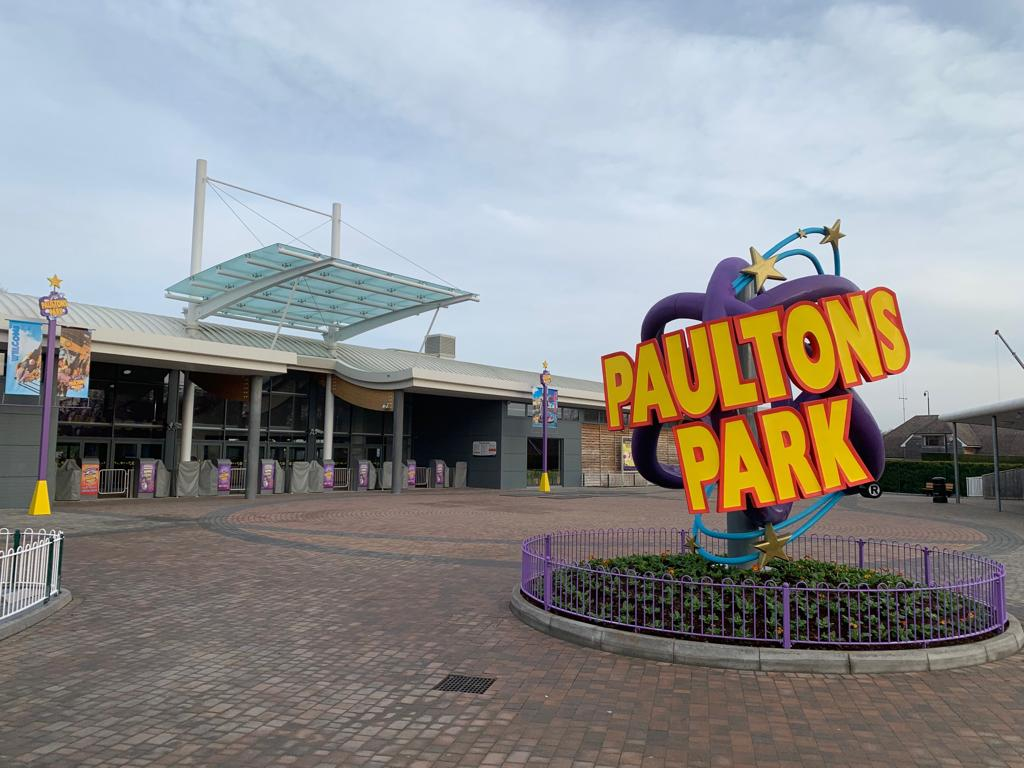 New Entrance Sign For Paultons Park England